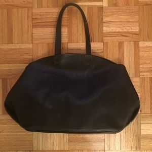 Zara black bag with interior zip